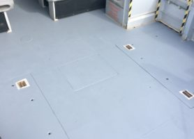 The boat's deck after the application of HARDPAVE