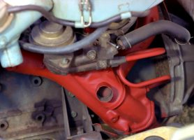 View of a small truck engine 18 months after application of one coat of METALFIX over rusty surfaces.