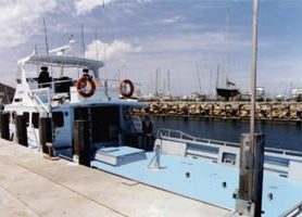 Rear view of the same Fisheries patrol vessel.