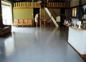 Interior of the Queensland Tourist Centre showing the MAXICOAT - painted floor.
