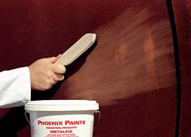 How to use Metalfix: 1. Wire brush the surface to remove loose flakes and scales. Do not remove all the rust.