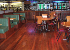 FLOORGUARD on bar floor area.
