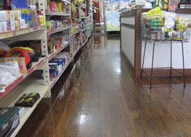 FLOORGUARD on country supermarket floor.